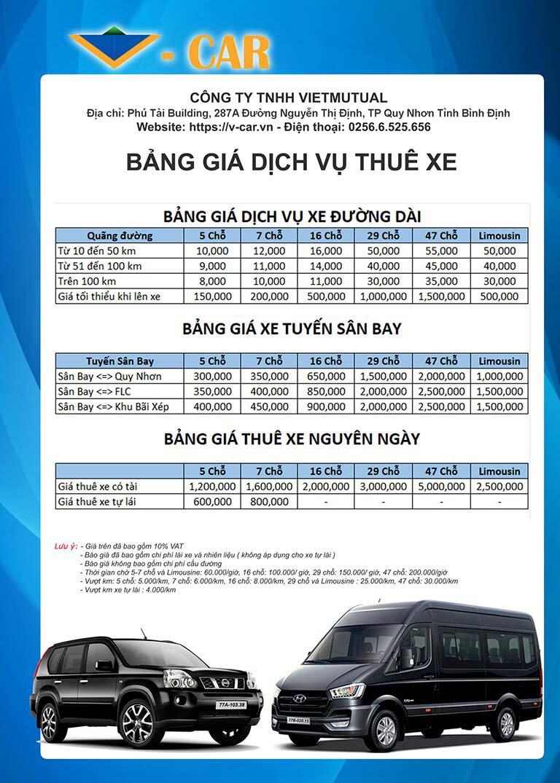 địa chỉ cho thuê xe du lịch tự lái uy tín tại Quy Nhơn