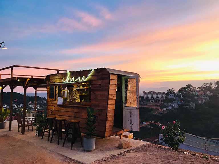 Quán cafe ngắm hoàng hôn ở Đà Lạt