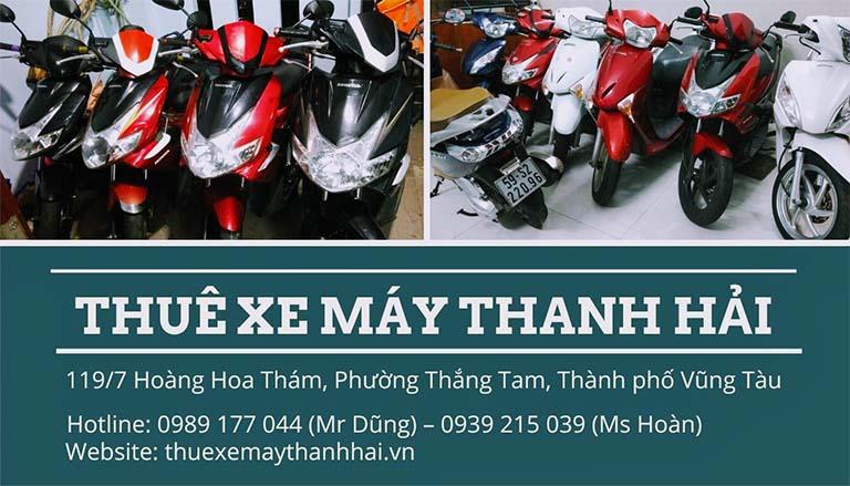 Các loại xe tại cửa hàng cho thuê xe máy Thanh Hải luôn được tân trang và bảo trì định kỳ