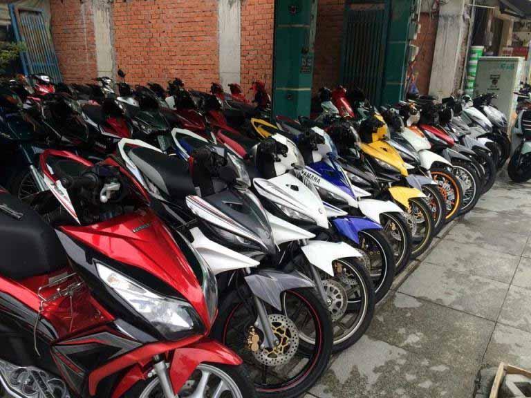 Cửa hàng cho thuê xe máy Minh Hải có đa dạng các hãng xe khác nhau nhằm đáp ứng các nhu cầu của khách hàng